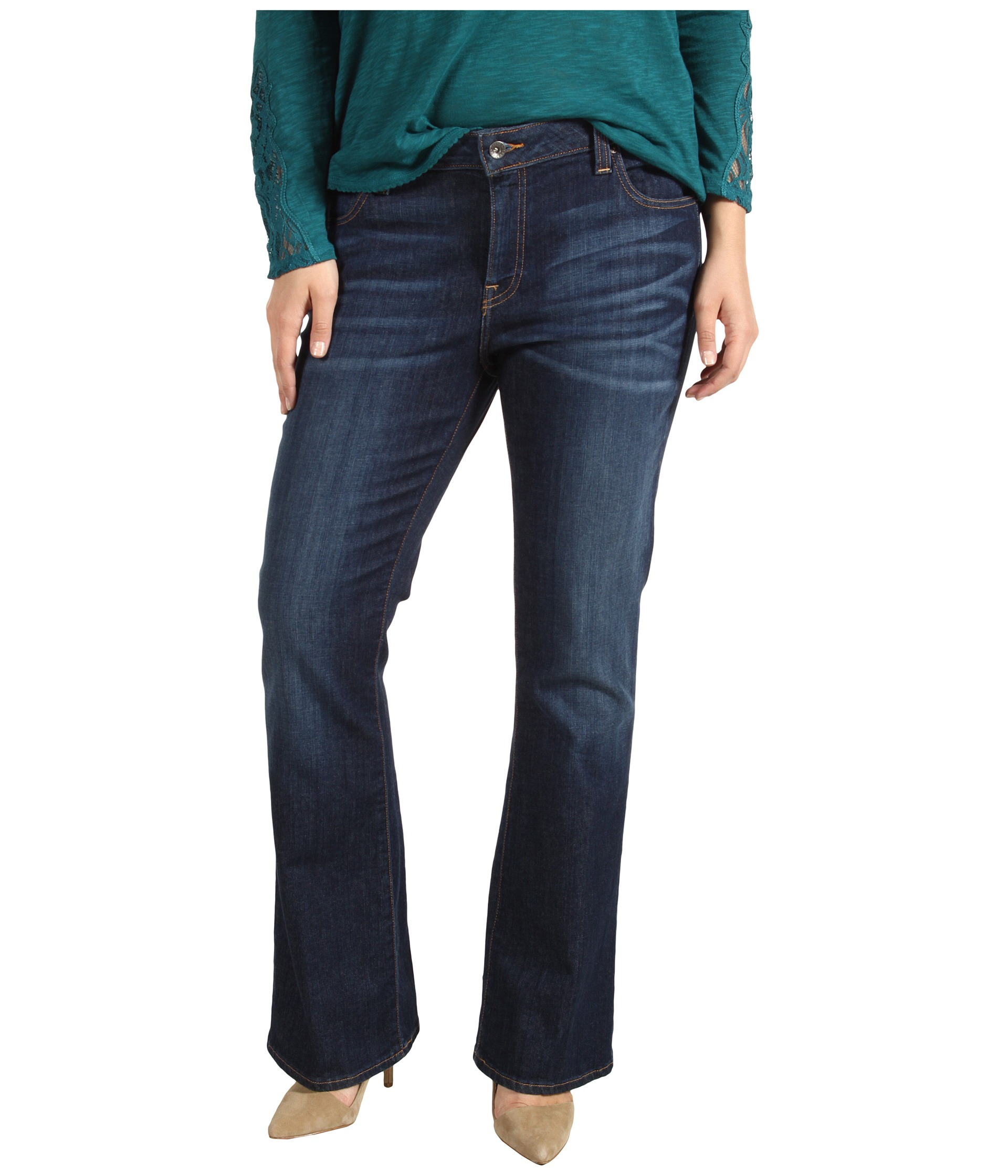 Lucky Brand Plus Size Ginger Boot Cut Jean in Medium Norma