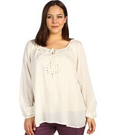 Lucky Brand - Plus Size Rhiannon Cut Out Peasant Top