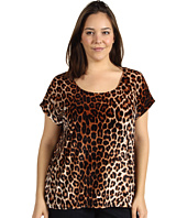 Lucky Brand - Plus Size Leopard Velvet Top