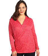 Lucky Brand - Plus Size Paisley Faux Wrap Top