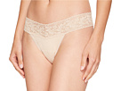 Image of Hanky Panky - Organic Cotton Low Rise Thong w/ Lace (Chai) Women's Underwear