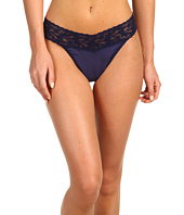 Hanky Panky - Organic Cotton Original Rise Thong w/ Lace