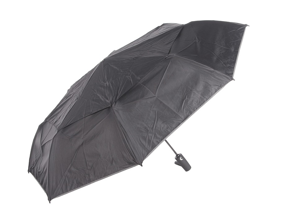 Tumi - Large Auto Close Umbrella (Black) Umbrella