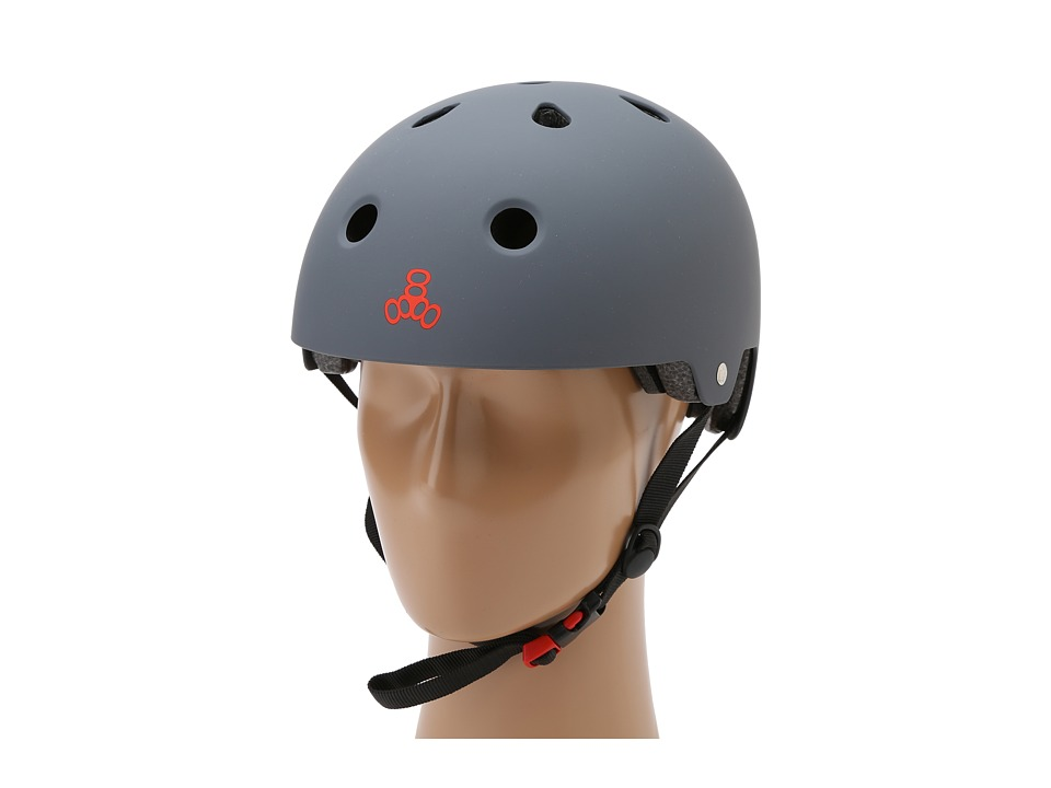 Triple Eight Brainsaver Dual Certified Helmet with EPS Liner Gun Matte Rubber Athletic Sports Equipment
