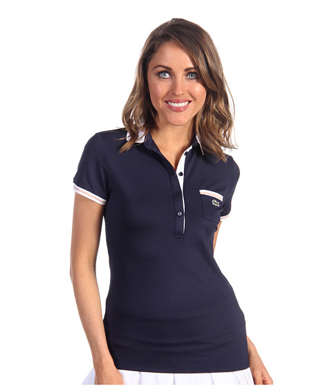 Cheap Lacoste S S Technical Pique Tipped Polo Firmament Blue Firmament Blue White Ballerina Pink