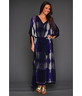 Halston Heritage - Three-Quarter Sleeve Caftan Dress