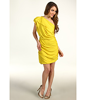 Halston Heritage - One Shoulder Dress with Asymmetrical Hem