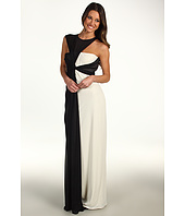 Halston Heritage - Sleeveless Asymmetrical Side Drape Gown