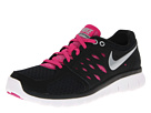 Nike - Flex 2013 Run (Black/Fusion Pink/White/Metallic Silver)