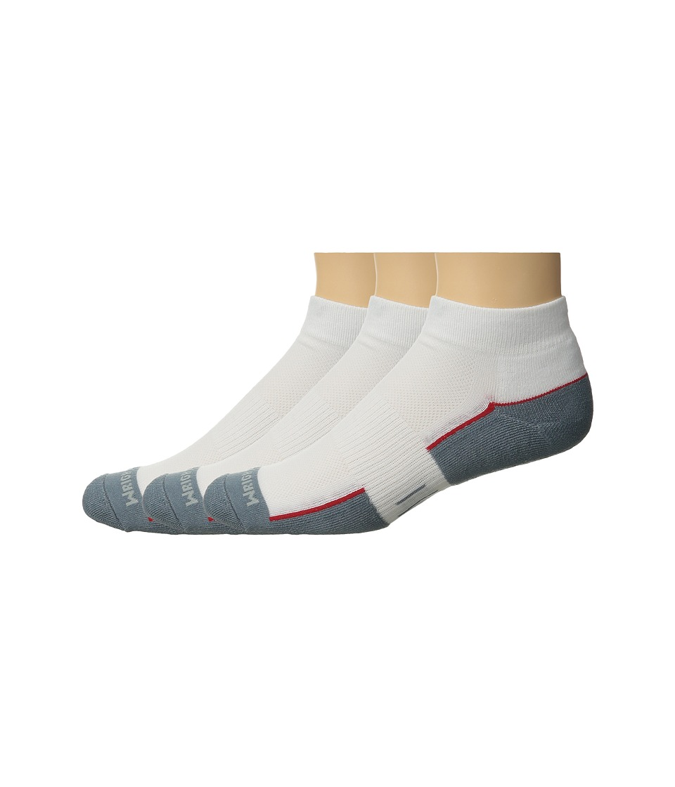 Wrightsock DL FUEL Lo 3 Pair White/Grey Low Cut Socks Shoes