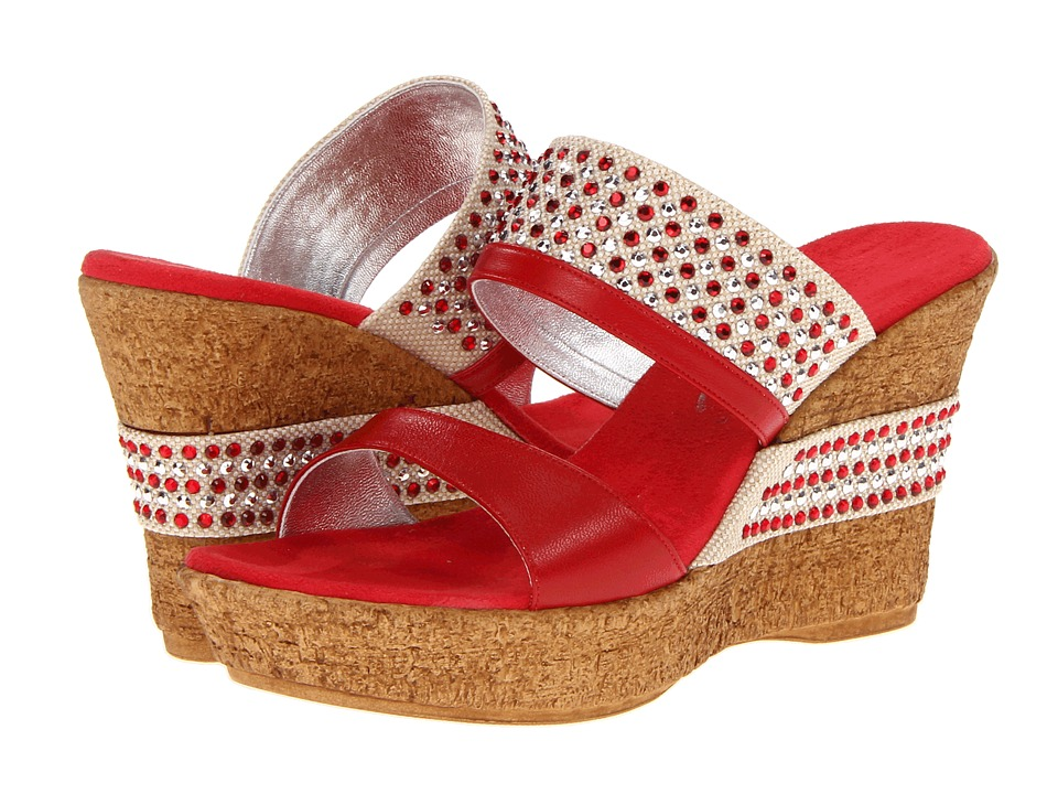 Onex Addison (Red) Women's Wedge Shoes