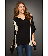 Three Dots - Contrast V-Neck Poncho