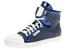Viktor & Rolf - High Top Metallic Trainer (Blue/Blue) - Footwear