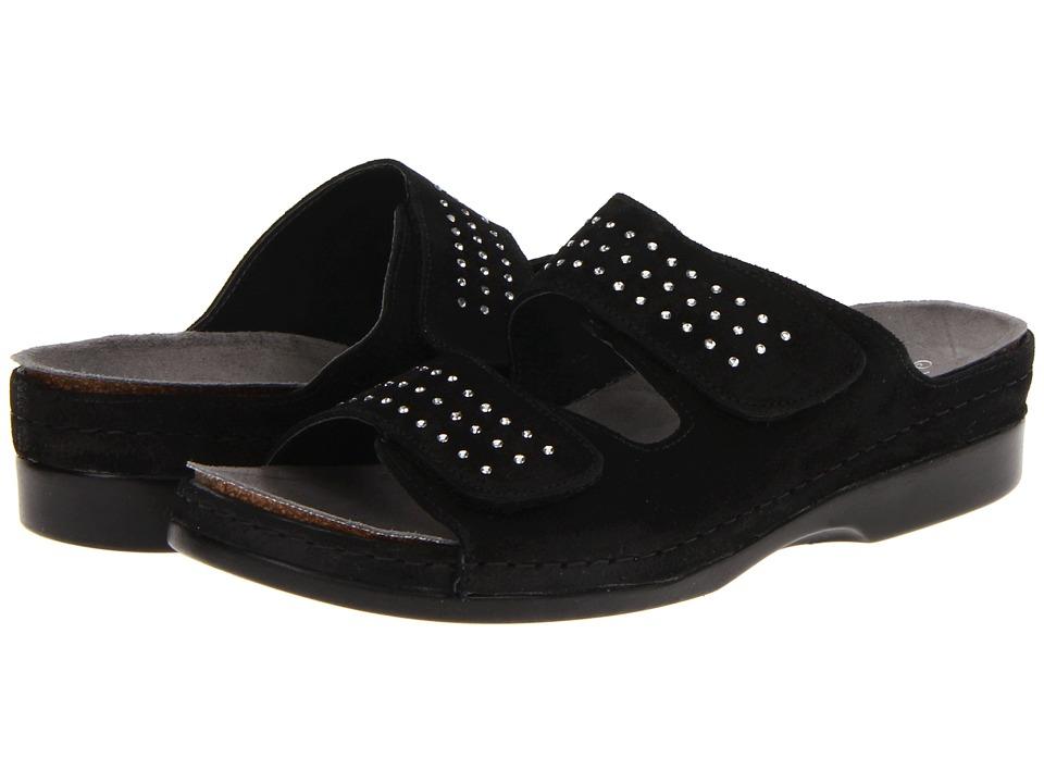 Helle Comfort Talasi Black Womens Slide Shoes