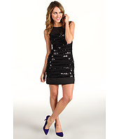 Max and Cleo - Paige Knit Sequin Cocktail Dress
