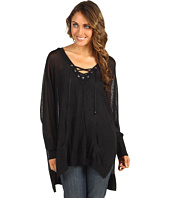 MICHAEL Michael Kors - Lace-Up Wide V-Neck Top