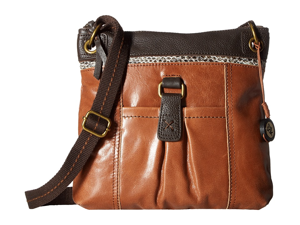 The Sak - Kendra Leather Crossbody (Brown Snake Multi) Cross Body Handbags