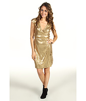 MICHAEL Michael Kors Petite - Petite S/L Sequined Wrap Dress