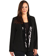 MICHAEL Michael Kors Plus - Plus Size Low Sequin Peak Lapel Blazer