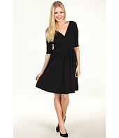 Suzi Chin for Maggy Boutique - 3/4 Sleeve Rouched Bodice Dress