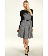 Suzi Chin for Maggy Boutique - L/S A-Line Tweed Fit and Flare Dress