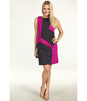 Suzi Chin for Maggy Boutique - Sleeveless Color Block Sheath Ponte Dress