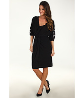 Suzi Chin for Maggy Boutique - 3/4 Lace Sleeve Dolman Dress