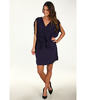 Suzi Chin for Maggy Boutique - Batwing V-Neck Faux Wrap Dress