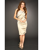 Suzi Chin for Maggy Boutique - Sleeveless Asymmetrical Neckline Sheath Dress