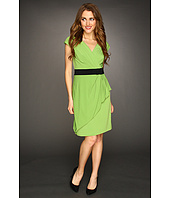Suzi Chin for Maggy Boutique - Sleeveless V-Neck w/ Ruffle Dress