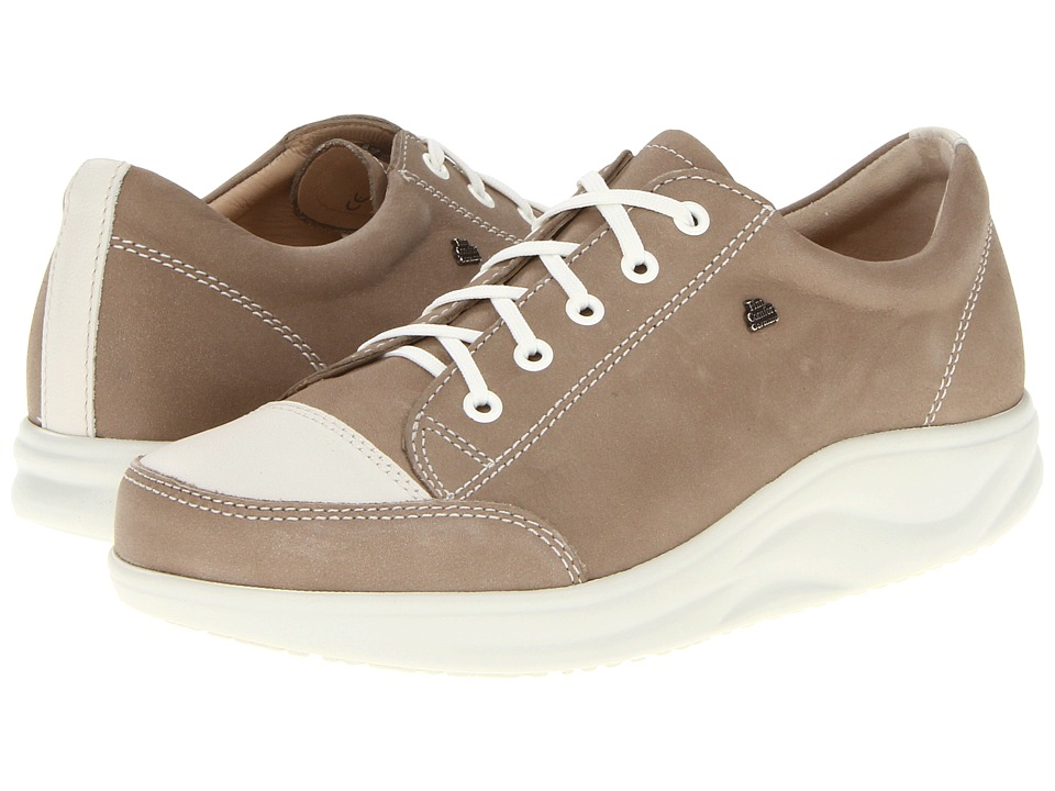 Finn Comfort - Ikebukuro - 2911 (Taupe/Jasmin) Womens Lace up casual Shoes