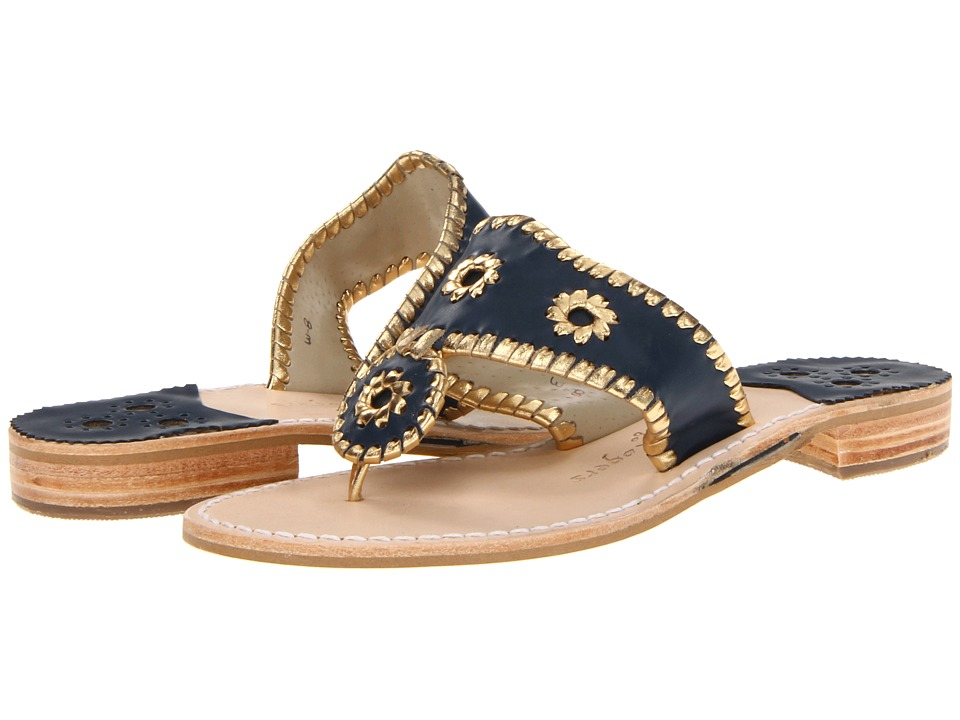 Jack Rogers Nantucket Gold (Midnight/Gold) Sandals