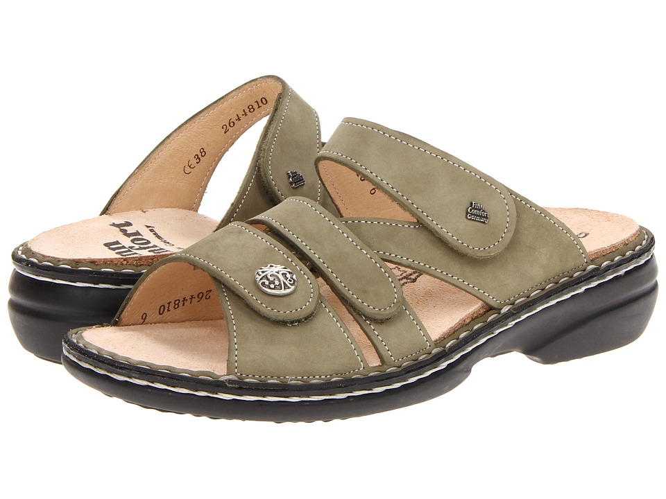 Finn Comfort Soft Ventura 82568 Olive Womens Slide Shoes