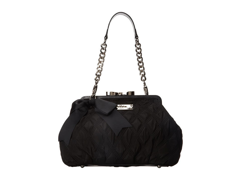 My Flat In London - Madison Frame Bag (Black) Handbags