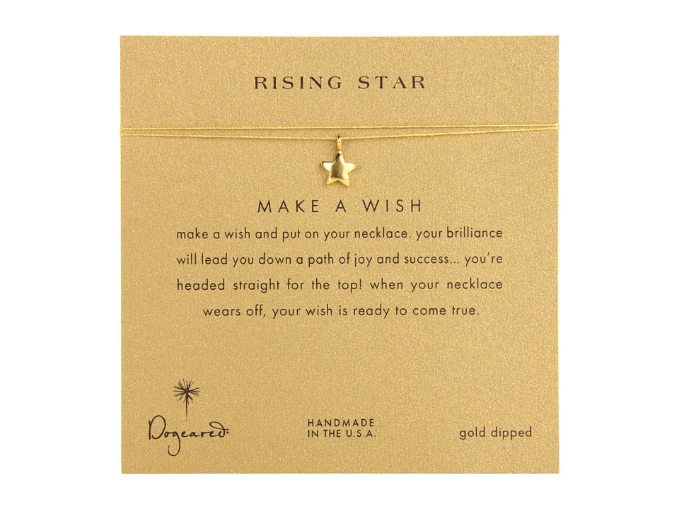 Dogeared Make A Wish Rising Star Necklace Gold/Gold Necklace