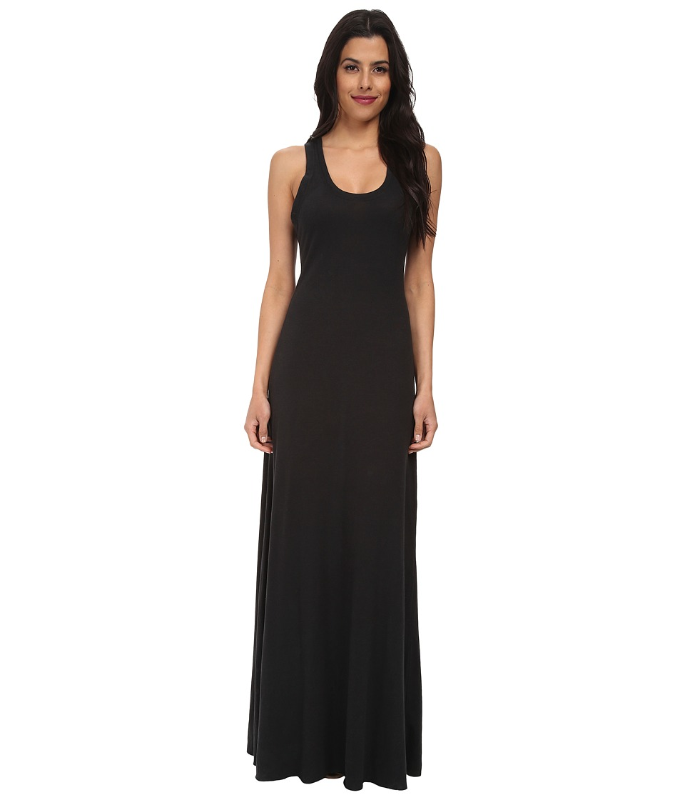 Alternative Racerback Maxi Dress Eco True Black Womens Dress