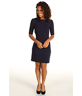 Three Dots - 1/2 Sleeve Seamed Shift Dress