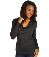Three Dots - L/S Cowl Shirt Tail Top