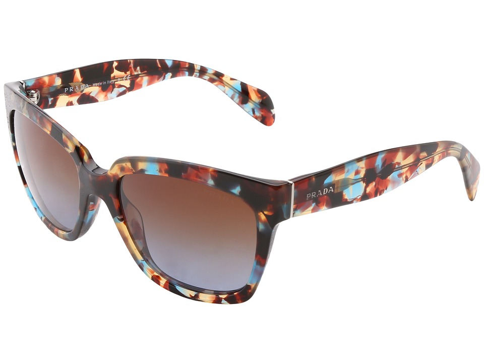 Prada PR 07PS Havana Spotted Blue Fashion Sunglasses
