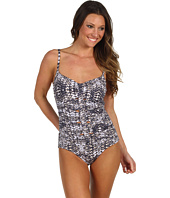 Badgley Mischka - Ibiza Shirred Cut-Out Maillot