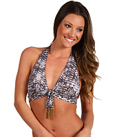 Badgley Mischka - Ibiza Shirred Halter Bra w/ Hardware
