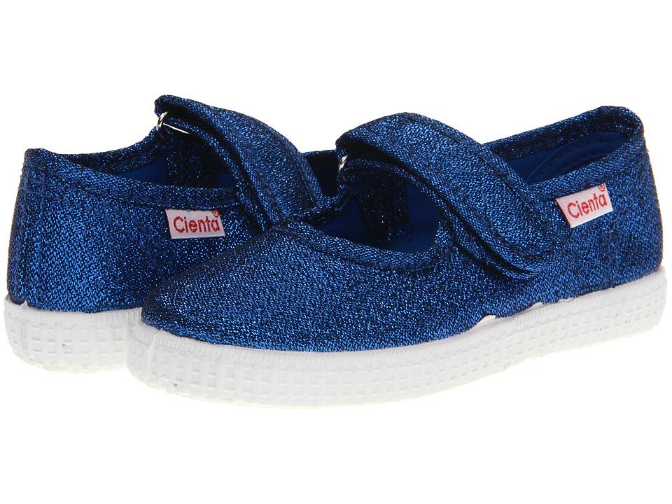 Cienta Kids Shoes 56013 Infant/Toddler/Little Kid/Big Kid Blue Metallic Girls Shoes