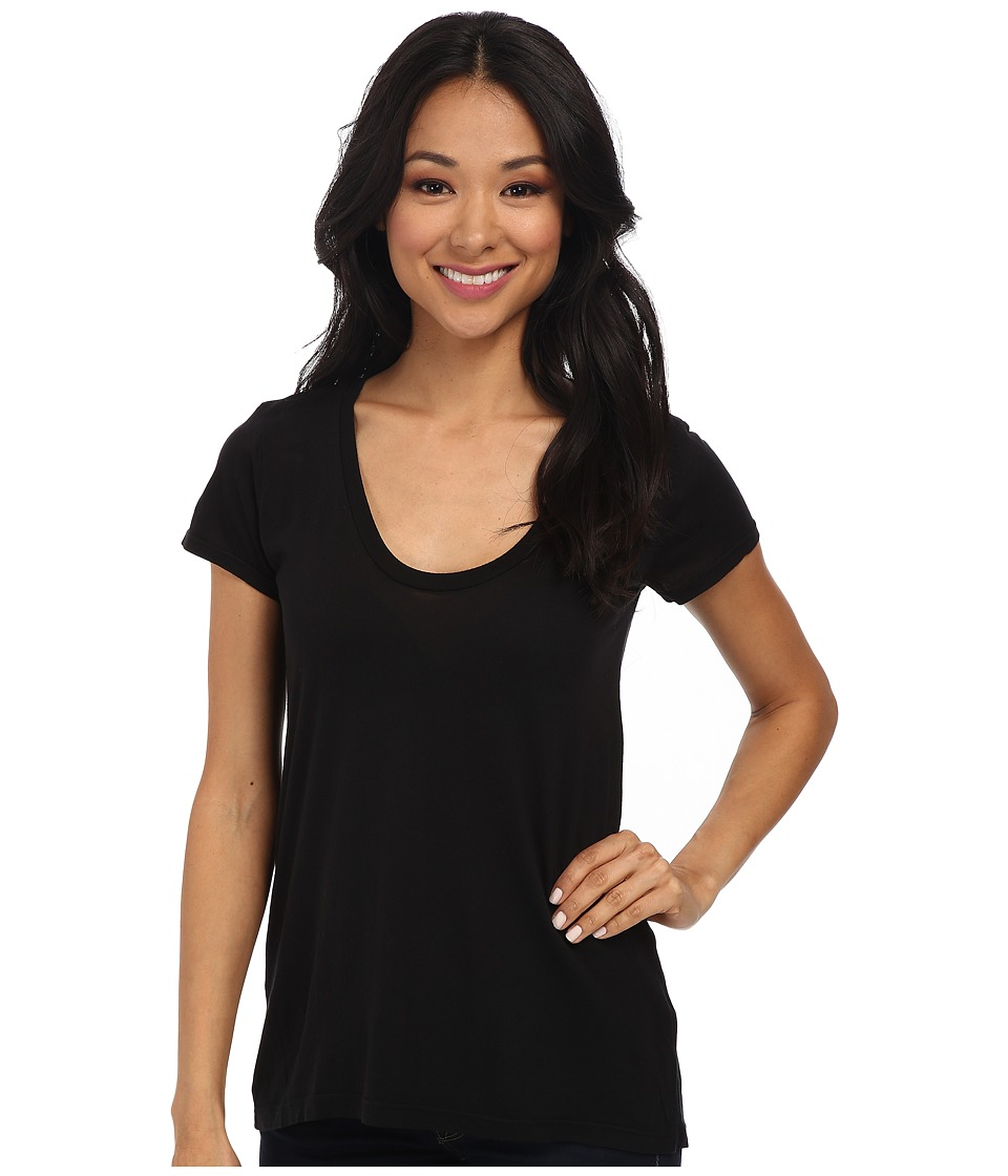 Splendid New Basic Tee (Black) Women
