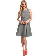 Rebecca Taylor - Fit & Flare Dress w/ Leather Trim