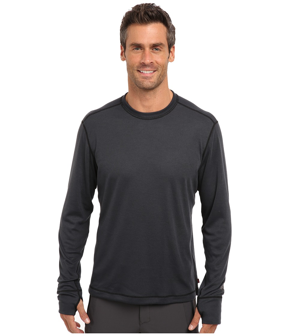 Hot Chillys Geo Pro Crewneck Black Heather Mens T Shirt