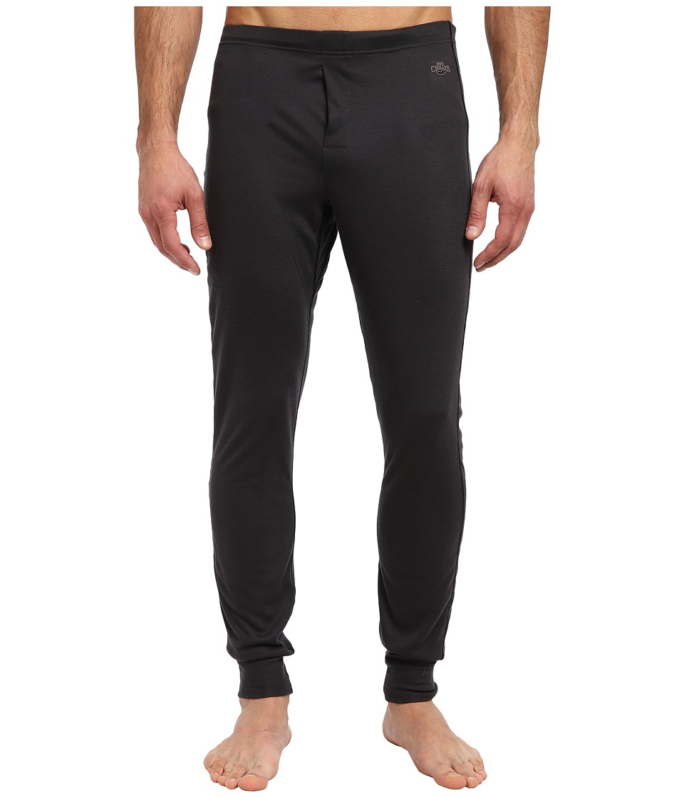 Hot Chillys Geo Pro Fly Bottom Black Heather Mens Casual Pants