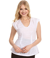 Rebecca Taylor - Solid Waisted Sleeveless Top