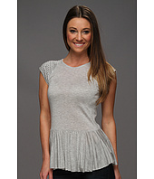 Rebecca Taylor - Faceted Nailhead Peplum Top