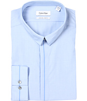 Calvin Klein - Non-Iron Slim Fit Hidden Placket Light Blue Dress Shirt