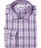 Calvin Klein - Non-Iron Slim Fit Amethyst Plaid Dress Shirt
